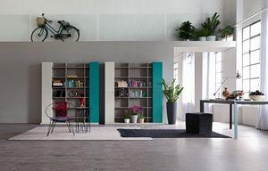 Citylife 32, Composición moderna sala de estar, con la biblioteca