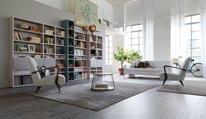 Citylife 35, Estantería modular moderno para entornos residenciales