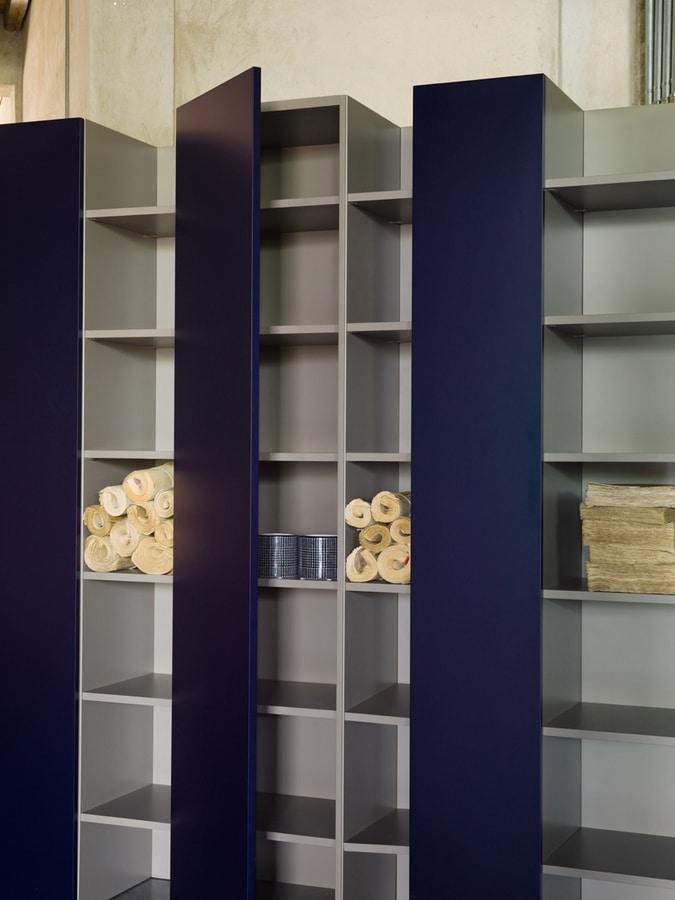 CODE comp.01, Estantería preciosa, con puertas, para los hoteles de lujo