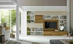 Comp. A036, Librería con escritorio oculto
