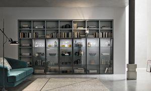 Comp. A053, Librería con puertas de cristal