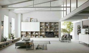 Comp. A115, Librería modular de diseño moderno