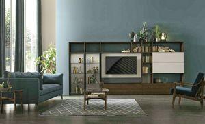 Comp. A117, Librería con soporte giratorio para TV