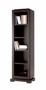 Downtown librero, Estantería de madera con estantes ajustables