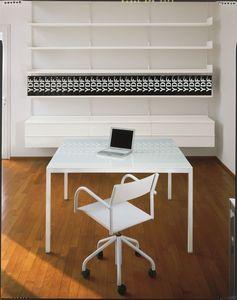 Elle System Office, Estantería de metal lacado, modular, para las bibliotecas y oficinas