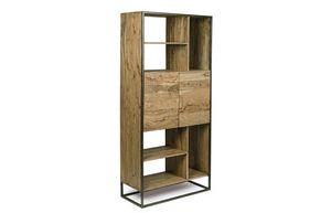 Estantería 2A Egon, Librería minimalista con estructura de acero.