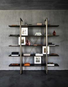 Frame Bookcase, Librería en metal y madera