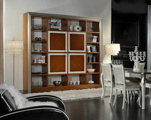 Granato, Librería de madera con puertas centrales
