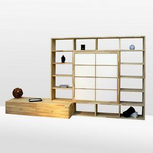 Haru-B, Librería de haya, a medida.
