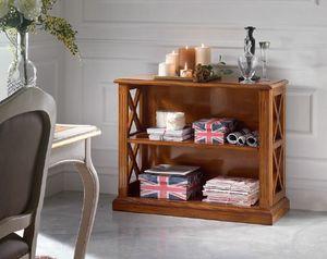 Inglese librero bajo, Librería baja de madera