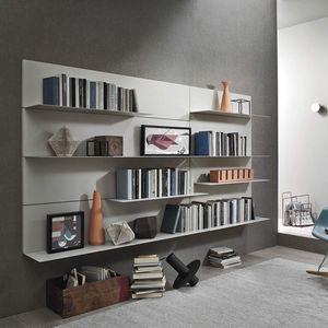 Lampo L5C38, Librería colgante con estantes metálicos