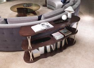 LB45 Mistral estanteria, Estantería de sofá retro, con estantes curvados