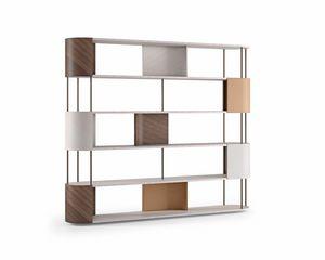 LB53 Gae estanteria, Librería hecha con materiales nobles.