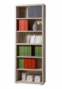 Librería de madera 6 estantes diseño moderno oficina y estudio MAGAZINE, Librería modular moderna en madera
