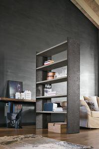 LINEAR 90-120 PP119-PP120, Librería en metal pintado con estanterías laminadas