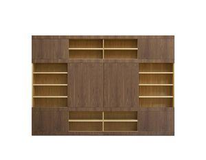 Maschera FS3510597, Librería con puertas correderas