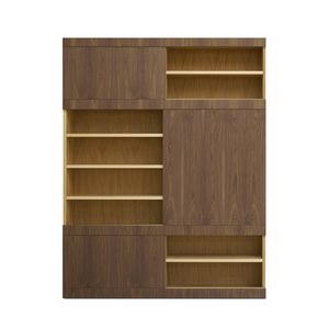 Maschera FS3510599, Librería de madera, con puertas correderas