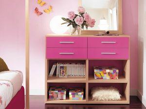 Modulari comp.04, Librería apta para dormitorio infantil