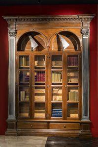 Montefioralle ME.0133, Librería giratoria con almacenamiento de vino oculto
