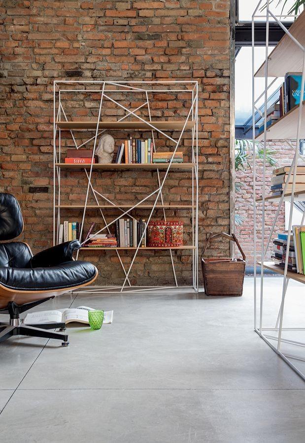 NAVIGLIO, Estante para libros en la barra lacado y vidrio, para la oficina moderna