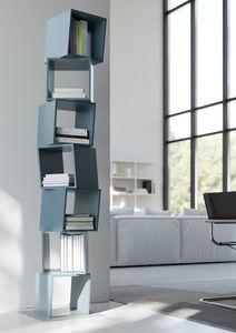 RUBIK comp.02, Biblioteca moderna de la casa, compuesto por cubos