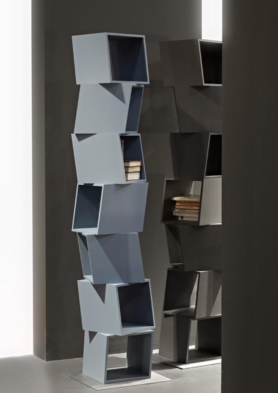RUBIK comp.01, Biblioteca compone de Módulos rotatorios, para las casas modernas