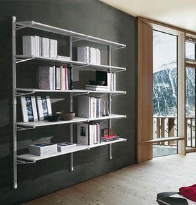Socrate home, Mobile para libros con estantes de vidrio, para uso doméstico