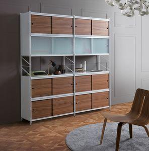 Socrate librero, Estanter�a modular de metal, para oficinas y casas modernas