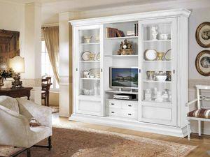 Stile estanteria, Gabinete equipado para salas de estar elegantes