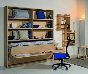 Surf LS441 escritorio, Librería con escritorio y cama plegable