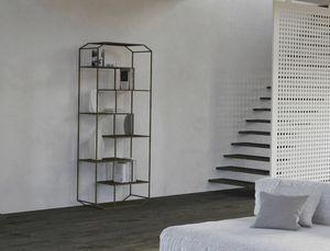 Yin, Librería de hierro con estantes de madera