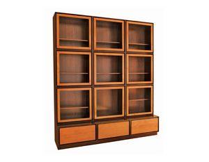 Zero FS3410170, Librería con puertas de vidrio.