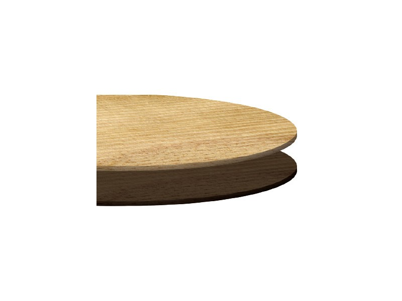 Tops laminate cod. 113, Tapa redonda de mesa de café, diversos acabados, para bares