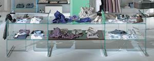 Glassystem COM/GS3, Estantes de vidrio para tiendas