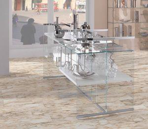 Glassystem comp.03, Mueble expositivo de vidrio para tiendas.