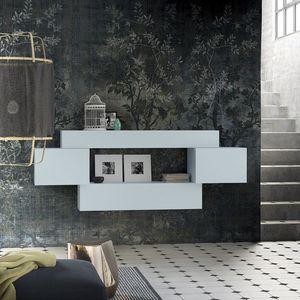 People P206, Estantería modular, en madera, con gabinetes