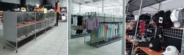 Socrate clothes shop, Sistemas Estanterías para tiendas, varios acabados y accesorios