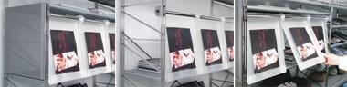 Socrate display unit, Metacrilato estanterías con estructura de acero