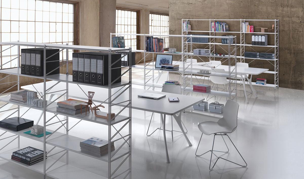 Socrate office, Estantería modular para bibliotecas y tiendas
