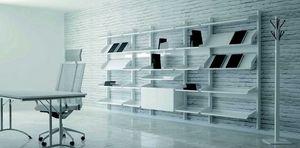 TOTEM, Mobiliario expositor modular con estructura de metal y estantes