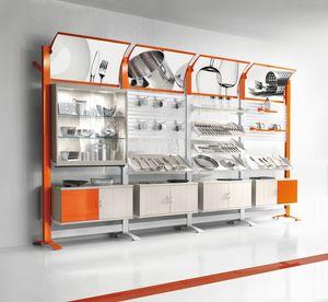 Contemporary - unidad de pared modular para tiendas de hogar, Displays de pared modulares para tiendas de artículos para el hogar
