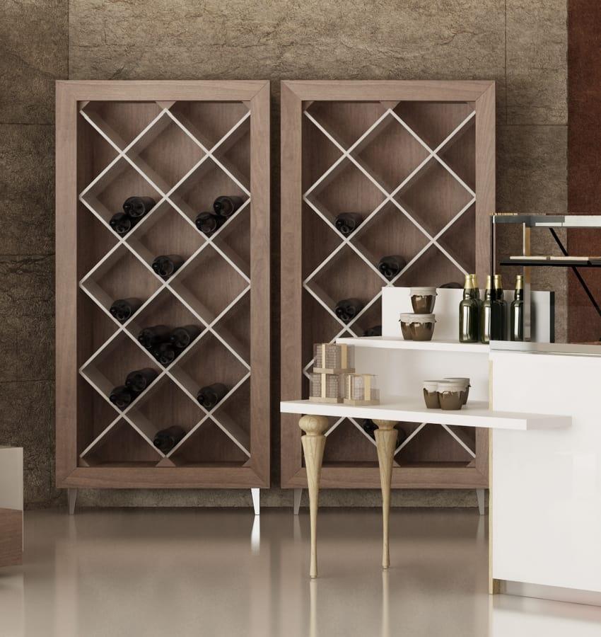 Estante de botellas de vino para la tienda idfdesign - Estanterias de vino ...