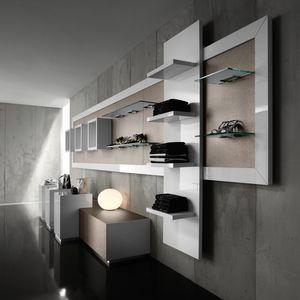 Revolution - unidad de pared para tienda de ropa, Expositor de pared para tiendas de moda