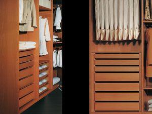 Equipos Internos 12, Armario moderno con accesorios, para dormitorios