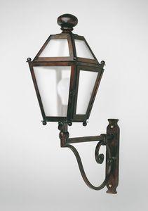 CHIANTI GL3009AR-1UP, Linterna de hierro con brazo, para uso en exteriores