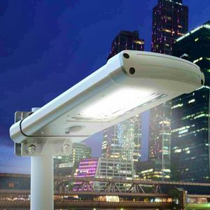 Farol 24 LED solar crepúsculo calle y jardín CALLE, Lampara exterior con sensor crepuscular.