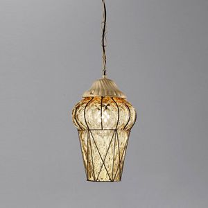 Piazza Es114-040, Lámpara de suspensión para exterior, en cristal Baloton