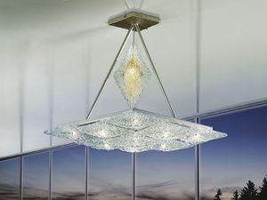 Alaska ceiling lamp, Lámpara con elementos romboidales, estilo imaginativo