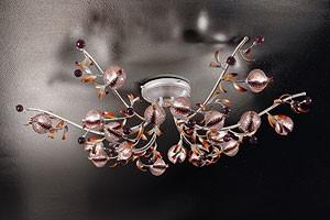 Ametista ceiling lamp, Plafón moderno en hierro forjado en estilo naturalista