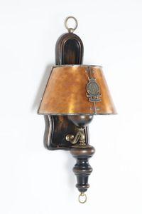 Art. SL 142, Lámpara de pared con pantalla de cobre envejecido